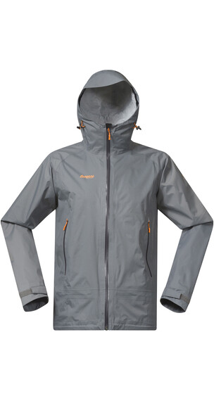 Bergans M's Sky Jacket Solid Grey/Solid Charcoal/Pumpkin